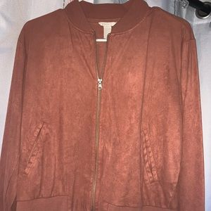 Forever 21 mauve zip up